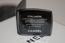 Lot of 4 x 0.9ml/ 0.03 fl.oz CHANEL Vitalumiere 35 Soft Bisque SPF 15 Makeup NEW