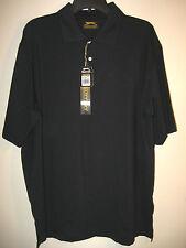 Slazenger Mens Golf Short Sleeve 3 Button Shirt Black L NWT