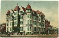 Hotel Metropole Oakland California CA Corner Street View Car 1900's Postcard