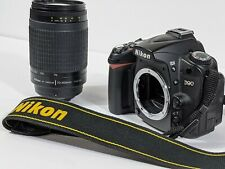 Nikon D90 12.3MP DSLR Camera W/Charger Tripod Strap & AF NIKKOR  70-300mm Lens