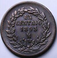1893 Mo Mexico  UN Centavo e6g-51-596