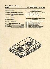 Official Fuji Tape Cassette US Patent Art Print- Vintage 1980 Audio Sound DJ 208