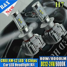 H7 Canbus LED Headlight Lamp 8000LM CREE XML-2 Conversion Kit Hi Lo 6000K White