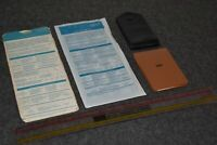 VINTAGE IBM COMPUTER LOT (5) DESK / OFFICE SUPPLIES - PAD/TEMPLATES/RULER/TAG
