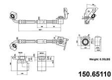 Brake Hydraulic Hose Front Left Centric 150.65110