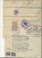 193 US Consulate Kovno Lithuenian Document with Revenue stamps US Consular St.