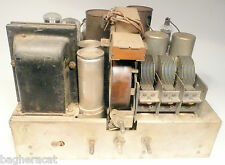 vintage* PHILCO 19 CATHEDRAL RADIO part: UNTESTED CHASSIS w/6 TUBES/good graphic