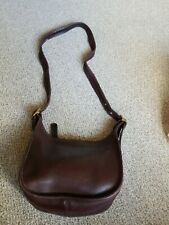 New listing Vintage COACH Janice Legacy Brown Leather Shoulder Bag Handbag 9950