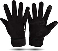 Winter Gloves Mens Womens Touch Screen Running Gloves Cold Weather Gloves