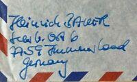 ZEPPELIN CAPTAIN HEINRICH BAUER AUTOGRAPHED NAME + ADDRESS HINDENBURG SURVIVOR!.