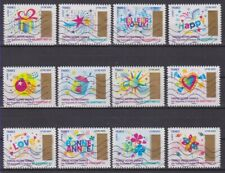 France 2017 : les 12 timbres du Carnet à gratter - Plus que des voeux - oblitéré