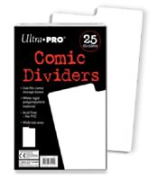 25  x Ultra PRO Comic Book Dividers Index White 185 x 280mm 25ct Archival Safe