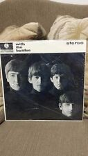 "WITH  THE BEATLES""  STILL SEALED  70'S IMPORT FROM ENGLAND UNION JACK STICKER!"