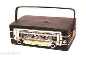***SELTEN! 60er Jahre Quelle Simonetta Kofferradio Portables Radio Griff Antenne