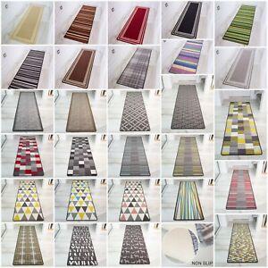 Machine Washable Non Slip Hall Runner Rugs Cheap New Long Easy Clean Hallway Mat