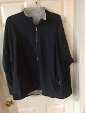 Adidas Climawarm Reversible Full Zip Jacket 2XL NWOT Gray / Blue Pockets