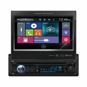 "Power Acoustik PD-724B 1 DIN FLIP UP CD/DVD/MP3 Player 7"" Bluetooth SD USB Input"