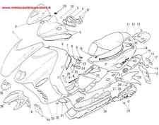 SPOILER POSTERIORE ORIGINALE MALAGUTI F15 FIREFOX COLORE ROSSO MAGENTA 06312791