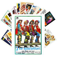 Postcards Pack [24 cards] THREE MUSKETEERS Vintage Movie Posters CC1361