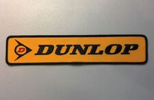 """Dunlop Performance Race Tires Superbike Nascar NHRA Embroidered Patch 9.75"""" X 2"""""""