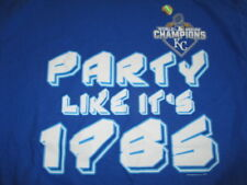 2015 KANSAS CITY ROYALS WORLD SERIES Champions Party Like 1985 (XL) T-Shirt Holo