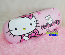 New Cute Hello Kitty PU Leather Hard Shell Glasses Eyeglass Case Box Holder