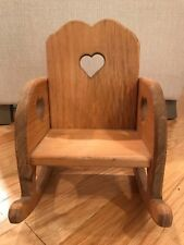 Childs Chair Wood Tone Heart Cut Out Design