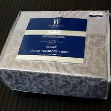 Charcoal Gray Scroll Pattern 4pc King Sheet Set Wamsutta 625 Tc Pimacott Cotton