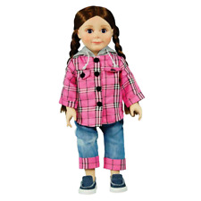 """Farm Fresh Jean Outfit, Doll Clothes Fits 18"""" Girl Dolls"""