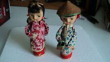 Kokeshi Wooden Peg Dolls (2) Handmade clothing