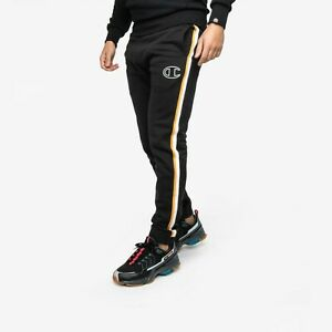 Champion Contrast Side Stripes Pants Men's Black Solid Semi Fitted Active Wear