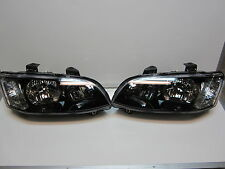 HOLDEN COMMODORE series 2 SS SV6 SS VE HEADLIGHTS black PAIR NEW HEAD LAMPS