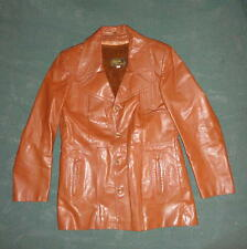 VINTAGE LEARSI LEATHER JACKET 1970'S ROCKABILLY MOD DISCO MENS WOMAN