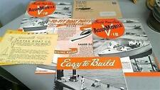 1947 48 Kayak Boat Company Literature Brochure Foldout Lot of 6 EXC.