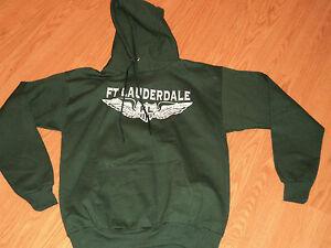 NWT Ft Lauderdale Hoodie Hooded Sweatshirt Green size M
