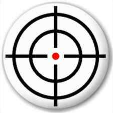 Small 25mm Lapel Pin Button Badge Novelty Crosshair