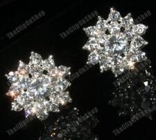 CLIP ON rhinestone BIG DIAMANTE STAR crystal EARRINGS