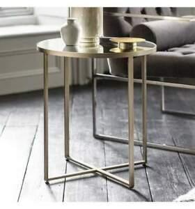 Ashlyn Silver Mirrored Side Table