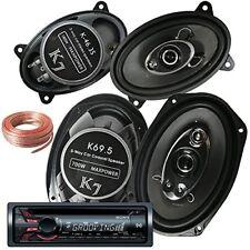 """Sony CDX-GT320MP Receiver +Pair Of K7 K-46.3S 4x6"""" 180W + K69.5 6""""x9"""" 700W +Wire"""