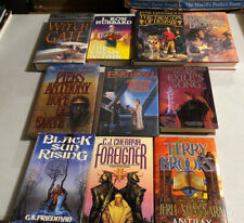 New ListingFantasy/Sci Fi Hardcover Book Lot Brooks And More