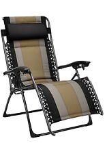 Padded Zero Gravity Patio Chair - Black
