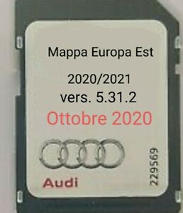AUDI MMI 3G BASIC AGGIORNAMENTO NAVIGATORE E MAPPA OTTOBRE 2020/2021 DVD + SD
