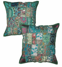 2pc Green Decorative Throw Pillow Covers Couch Pillow Chair Toss Bed Pillows