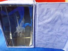 """Pegasus horse crystal glass paper  00004000 weight 1lb 2oz very nice about 3"""" gift item"""