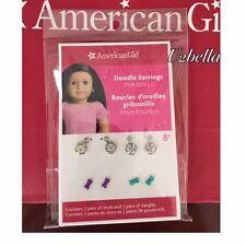 American Girl Doodle Earring Set for dolls Pierced ears 4 Pair,NEW