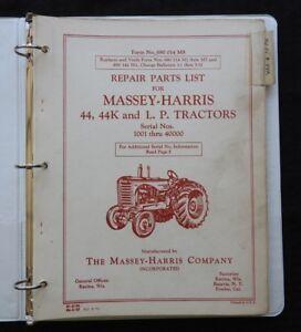 1953-70 MASSEY HARRIS 44 44K 44LP TRACTOR PARTS CATALOG MANUAL GAS & LP NICE 1