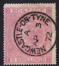 QV GB SG126 5s Rose Plate 1 Maltese Cross SUPERB Newcastle AP 3 1872 CDS (FJ)