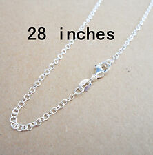 """Wholesale 1 P 28"""" Nice  Jewelry Rolo 925 Sterling Silver Plated Necklaces Chains"""