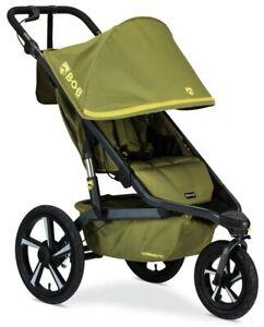 BOB Alterrain Pro Jogging Stroller Swivel Front Wheel Baby Jogger Olive NEW