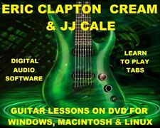 Eric Clapton 402 & Cream 92 & JJ Cale 92 Guitar Tabs Software Lesson CD 132 BTs